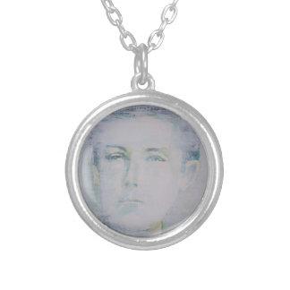 ARTHUR RIMBAUD - watercolor portrait.5 Silver Plated Necklace