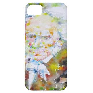 arthur schopenhauer - watercolor portrait.1 case for the iPhone 5