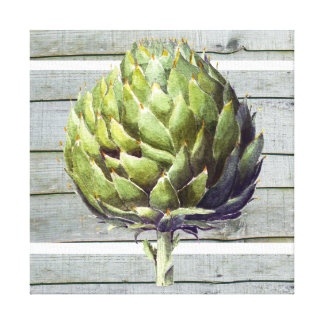 Arthur the artichoke canvas print
