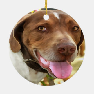 Arthur The Hunting Dog Ceramic Ornament