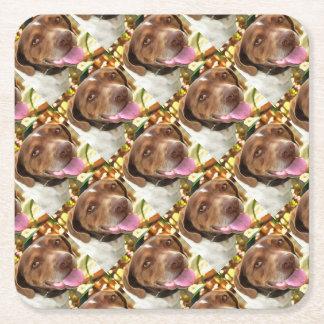 Arthur The Hunting Dog Square Paper Coaster