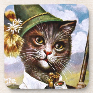 Arthur Thiele - Bavarian Alps Cat Beverage Coaster
