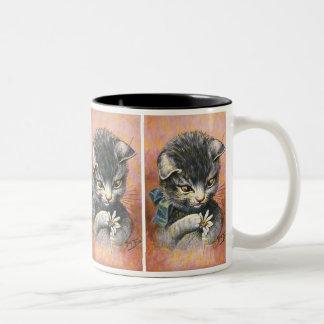Arthur Thiele - Cat in Love Two-Tone Coffee Mug