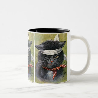 Arthur Thiele - Cat with Toothaches Two-Tone Coffee Mug