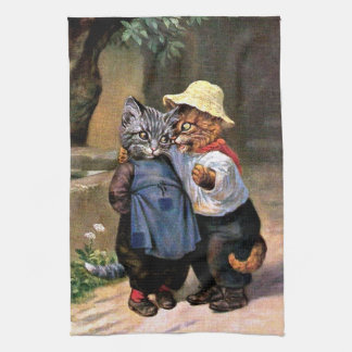 Arthur Thiele - Lovely Country Cats Kitchen Towel