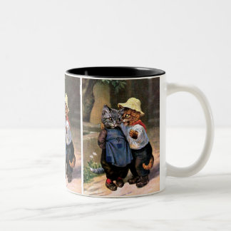 Arthur Thiele - Lovely Country Cats Two-Tone Coffee Mug