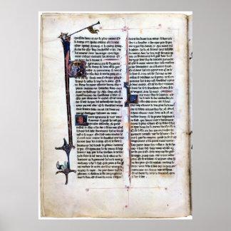 Arthurian Romance Illuminated page. Poster