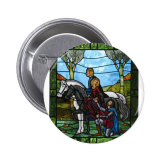Arthurian Window 2 Inch Round Button