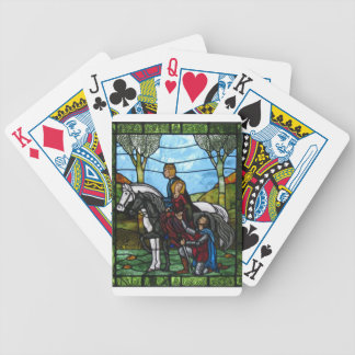Arthurian Window Bicycle Playing Cards