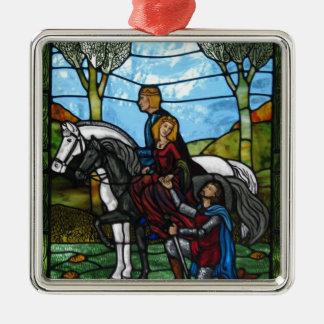 Arthurian Window Metal Ornament