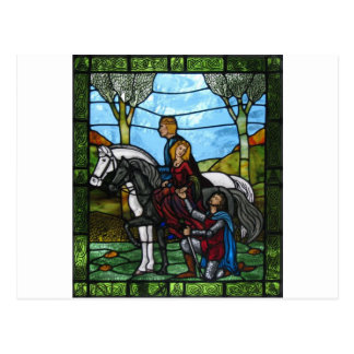 Arthurian Window Postcard