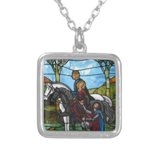 Arthurian Window Silver Plated Necklace