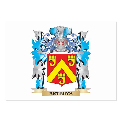 Arthuys Coat Of Arms Business Card Templates