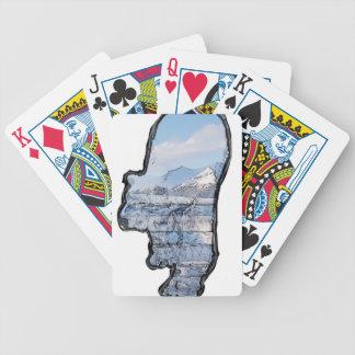 Artic Polar Bear Bicycle Playing Cards