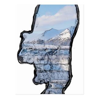 Artic Polar Bear Postcard