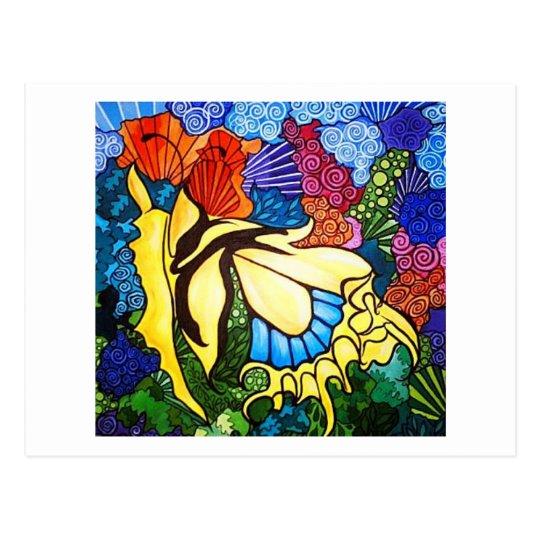 Artichicks art on a postcard (Abstract butterfly)