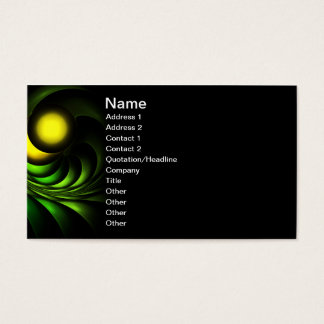Artichoke Abstract Fractal Artwork Business Card