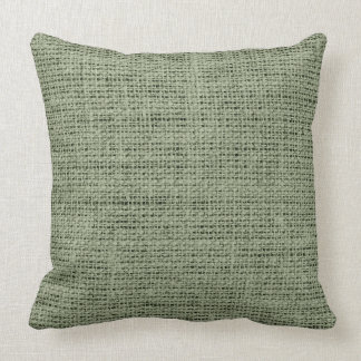 Artichoke burlap linen background throw pillow