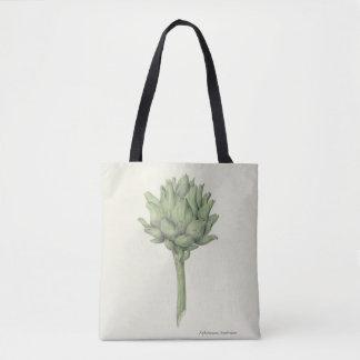 artichoke, foodies, chefs, gardeners, vintage art tote bag