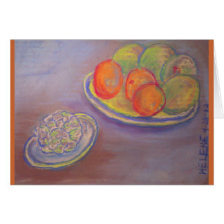 Artichoke, Oranges and Mangoes Card