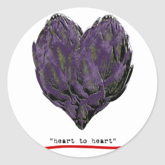artichokes-heart to heart png round sticker