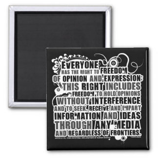 Article 19 Quote (B&W) Refrigerator Magnets