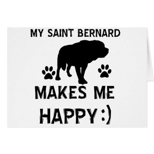 Articles de cadeau de St Bernard Cartes De Vœux