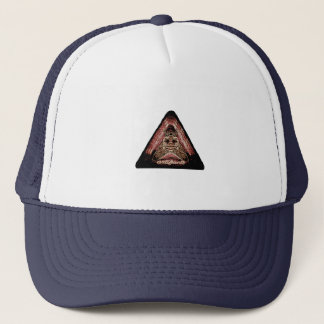 artifacts - red quad logo test trucker hat