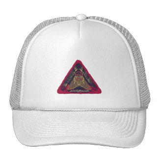 artifacts - something on your mind? v2 pink logo trucker hat