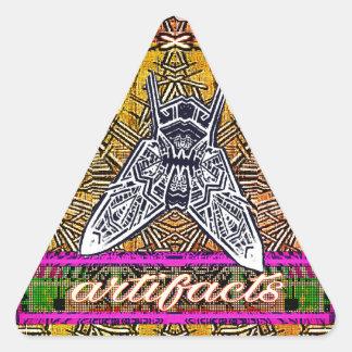 artifacts-triangular fly sticker 4