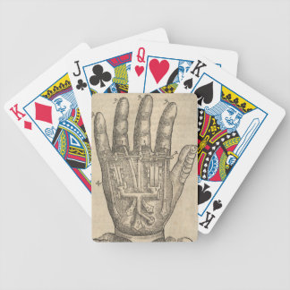 Artifical hand bicycle playing cards