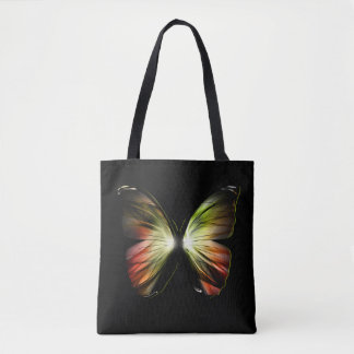 Artificial Butterfly All-Over-Print Tote Bag