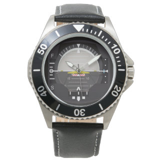 artificial horizon wrist watch