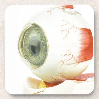 Artificial human eye beverage coaster