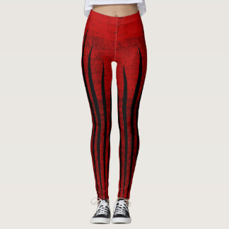Artificial red texture leggings