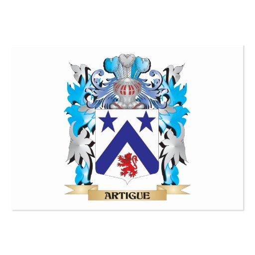 Artigue Coat Of Arms Business Card Template