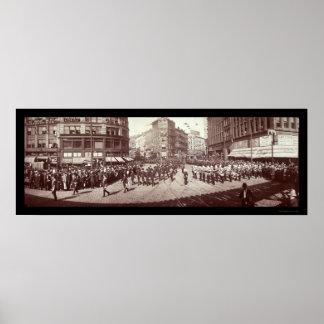 Artillery In Boston Photo 1903 Poster