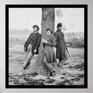 Artillery Officers at Fort Brady, VA 1864 Poster