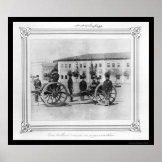 Artillery School in Istanbul, Turkey 1885 Poster
