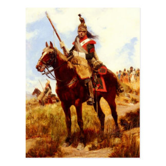 Artilleur a Cheval Postcard