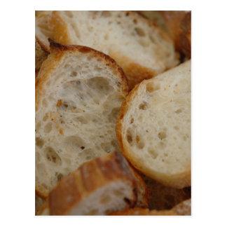 Artisan Bread Slices Postcard