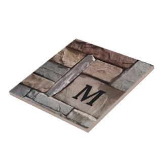 Artisan Masonry Monogrammed Trivet Ceramic Tiles