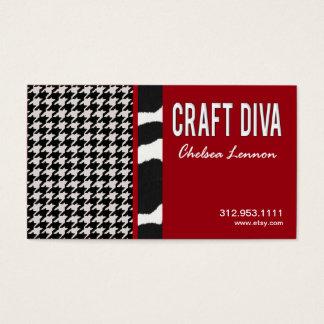 Artisanat d'artiste de diva de métier tricotant cartes de visite