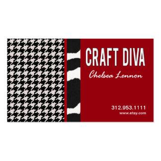 Artisanat d'artiste de diva de métier tricotant pi cartes de visite personnelles