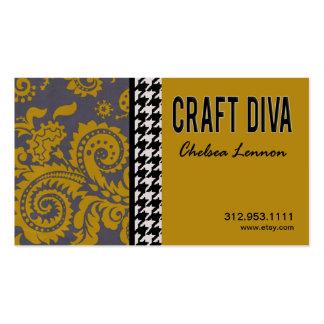 Artisanat d'artiste de diva de métier tricotant pi carte de visite