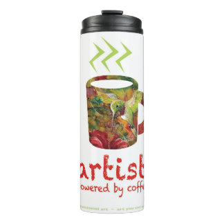 artist are powered by coffee thermal tumbler