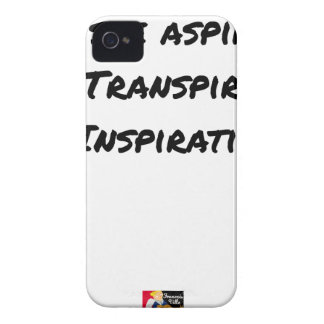 ARTIST ASPIRING TO PERSPIRE OF INSPIRATION iPhone 4 CASE
