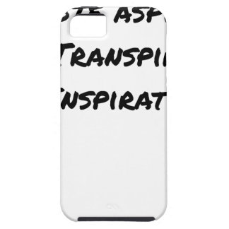 ARTIST ASPIRING TO PERSPIRE OF INSPIRATION iPhone 5 CASE