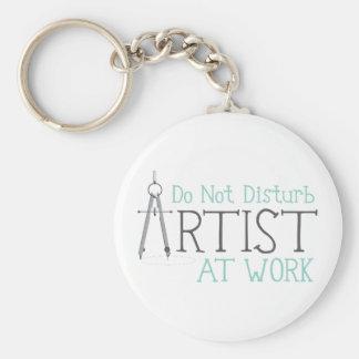 Artist at Work Keychain