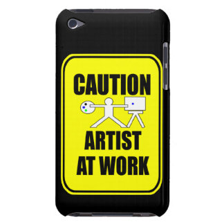 artist at work warning sign phone cover iPod touch cases